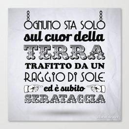 "Stampa ""Serataccia"" Canvas Print"