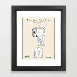 Toilet Paper Roll Patent Framed Art Print