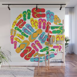 multicolored flip flops Wall Mural