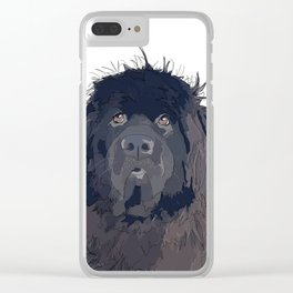 Newfoundland Dog Clear iPhone Case