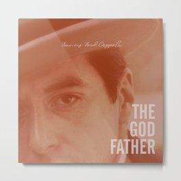 The Godfather, Alternative Movie Poster, Al Pacino, Marlon Brando, classic film Metal Print
