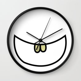 Smile 2 Two teeth  Wall Clock