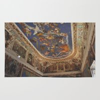 baroque Area & Throw Rugs featuring Baroque by Lorenzo Bini