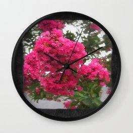 Crape Myrtle Blank P4F0 Wall Clock