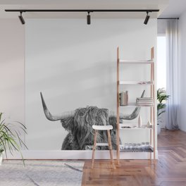 """Highland Cow """"I See You"""" Wall Mural"""