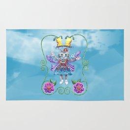 Angel Kitty (Turquoise) Rug