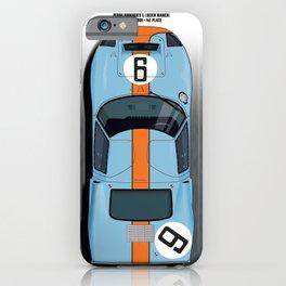 Rodriguez-Bianchi GT40 Gulf Le Mans 1968 iPhone Case