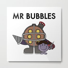 Mr Bubbles Metal Print