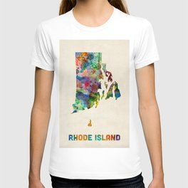 Rhode Island Watercolor Map T-shirt