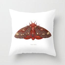 Regal Moth Throw Pillow