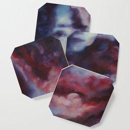 Melancholic Illusions - Abstract Oil Painting Coaster