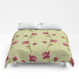 Embroidered Rose Comforters