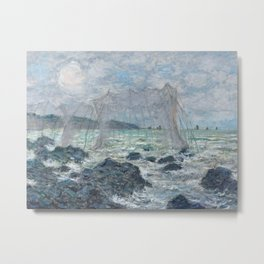 Fishing Nets at Pourville by Claude Monet Metal Print