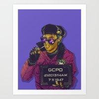 boneface Art Prints featuring Joker Goon by boneface