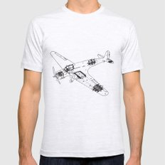 Airplane diagram Mens Fitted Tee Ash Grey LARGE