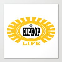 hiphop Canvas Prints featuring HIPHOP by Robleedesigns