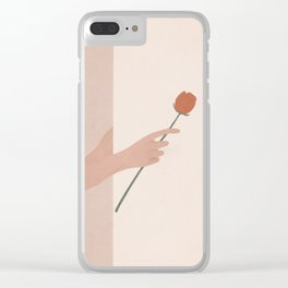 One Rose Flower Clear iPhone Case