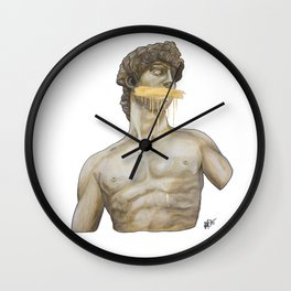 Dressed in Gold Wall Clock