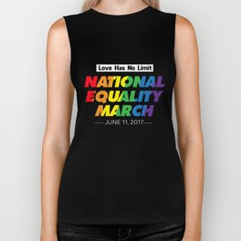 LGBT T-Shirt Love Has No Limit National Equality LGBT Gift Biker Tank