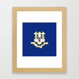 flag Connecticut,america,us,new England,constitution,Connecticuter,Yale,Nutmegger,Hartford Framed Art Print