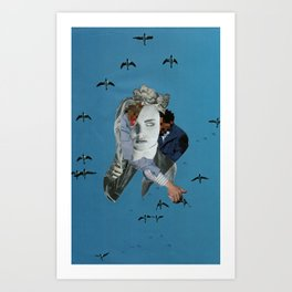 """LEATHER RIDES HIGH"" Art Print"