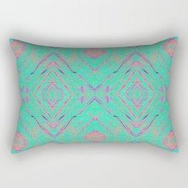 Green marble effect Rectangular Pillow