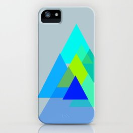Triangles - blues color scheme iPhone Case