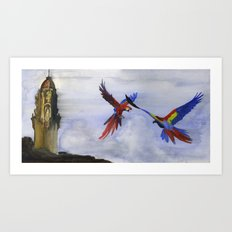 Parrots of Dolores Park Art Print