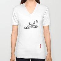 ferrari V-neck T-shirts featuring Ferrari 512 by Remove Before . . .