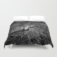 philadelphia Duvet Covers featuring philadelphia map by Line Line Lines