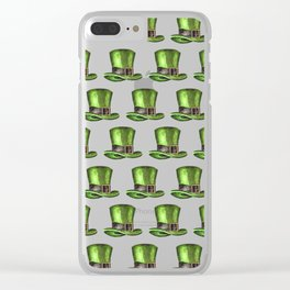 Saint Patrick's Day Leprechaun Hats Clear iPhone Case