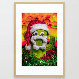 Chester the Christmas Cactus Framed Art Print