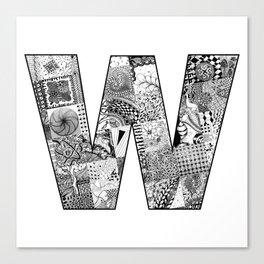 Cutout Letter W Canvas Print