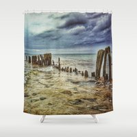 walrus Shower Curtains featuring Walrus Teeth by Metamorview