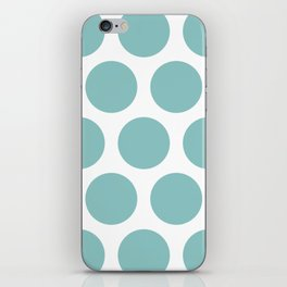 Chalky Blue Large Polka Dots iPhone Skin