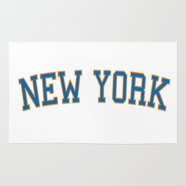 New York Sports College Font Rug