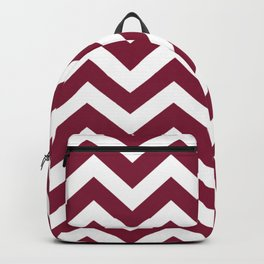 Claret - purple color - Zigzag Chevron Pattern Backpack
