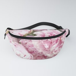 Pink Shabby Chic Peonies - Garden Peony Flowers Wall Prints Home Decor Fanny Pack