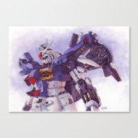 gundam Canvas Prints featuring Gundam GP01 by Hector Trunnec