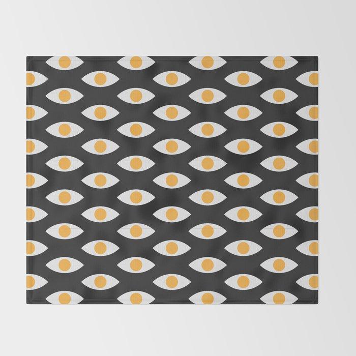 eye pattern Throw Blanket