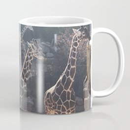 Giraffe National Park // Spotted Long Neck Graceful Creatures in Wildlife Preserve Coffee Mug
