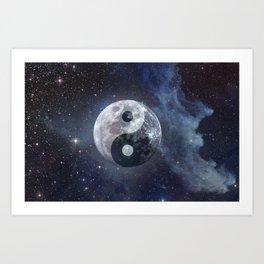 Yin Yang Moon Art Print
