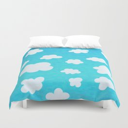 Happy Little Clouds Duvet Cover