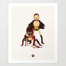 Finn Balor & Demon - NXT Pro Wrestler Illustration Art Print
