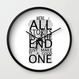 we're all stories Wall Clock