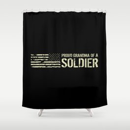 Proud Grandma of a Soldier Shower Curtain
