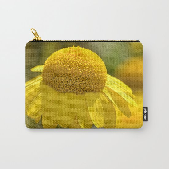 Yellow flower macro 253 Carry-All Pouch