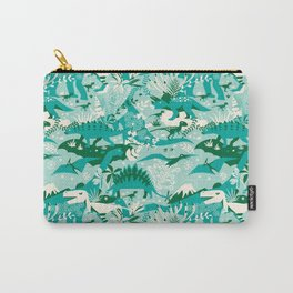 Dino world | blue Carry-All Pouch