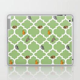 Cats on a Lattice - Green Laptop & iPad Skin