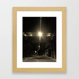 Alley Lights  Framed Art Print